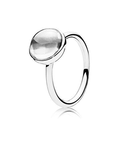 PANDORA - Poética del anillo de la gotita de plata 925/1000 PANDORA 190982CZ - 54