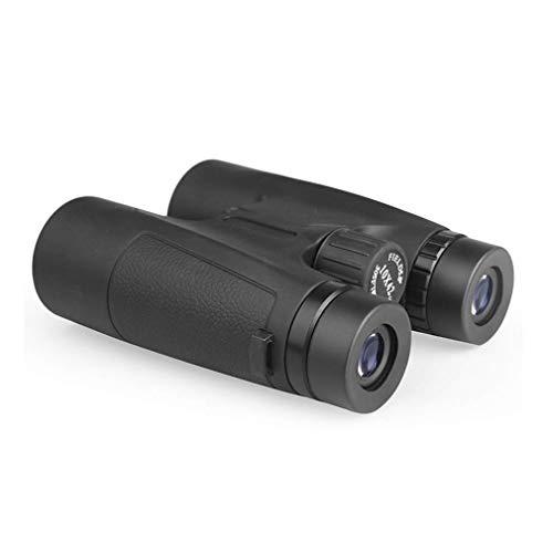 Bierglaks Mini binoculares 10x42 para Adultos, binoculares Impermeables con Lente BAK4 Prism FMC, con visión Nocturna de luz débil para observación de Aves, Teatro y conciertos, Viajes, Negro