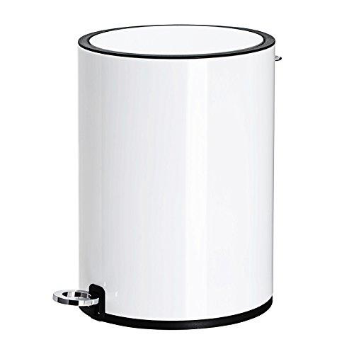SONGMICS Kosmetikeimer aus Stahl 6 L, Badezimmer Mülleimer mit Softclose, Badeimer mit ABS-Deckel und Inneneimer LTB12WT