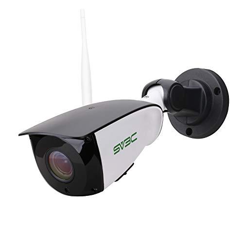 Überwachungskamera Aussen WLAN SV3C 5MP IP Kamera Outdoor, 5X Optischer Zoom, Zwei-Wege-Audio, Nachtsicht, IP66 wasserdicht eingebauter SD-Kartenschlitz, unterstützt Fernalarm & Mobile App Kontrolle