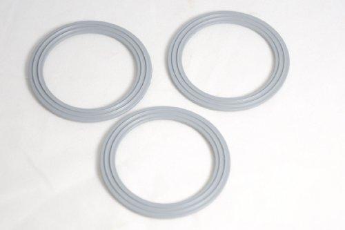Packung mit 3 Kenwood Aufsatz Blender Gummiboden Dichtungsringen - WVE.650544