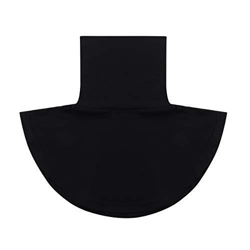 Agoky Damen Kragen Universal Abnehmbare Hälfte Unterhemd Shirt Bluse Tops aus Baumwolle in Weiß/Schwarz/Grau Schwarz Stehkragen One Size