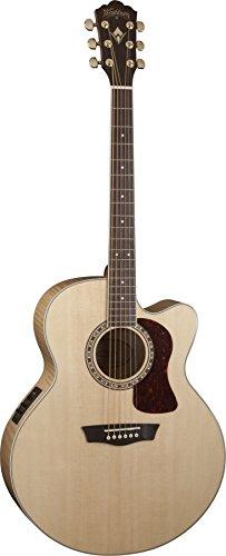 Washburn Heritage Series USM-HJ40SCE Jumbo Acoustic-Electric Guitar Natural