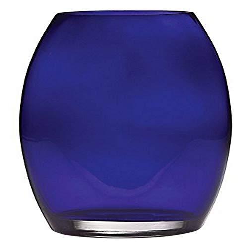Hochwertiges Glas 25,4cm Majestic Geschenke europäischen handgefertigt Vase, oval, groß, Kobalt blau