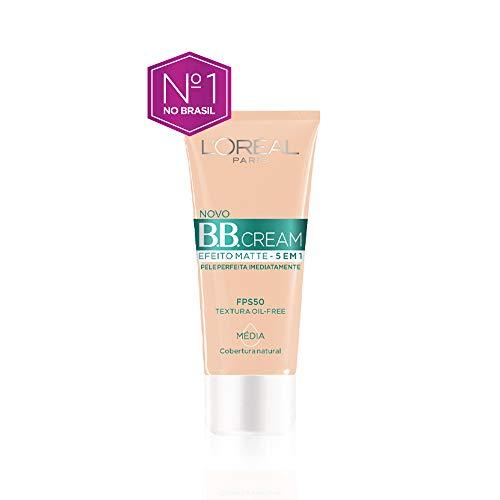 Base Bb Cream L'Oréal Paris Efeito Matte 5 em 1 Fps 50 30G - Media, L'Oréal Paris
