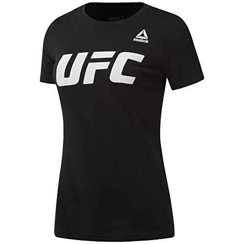 Reebok UFC FG Logo tee Camiseta, Mujer, Negro (Negro), XS