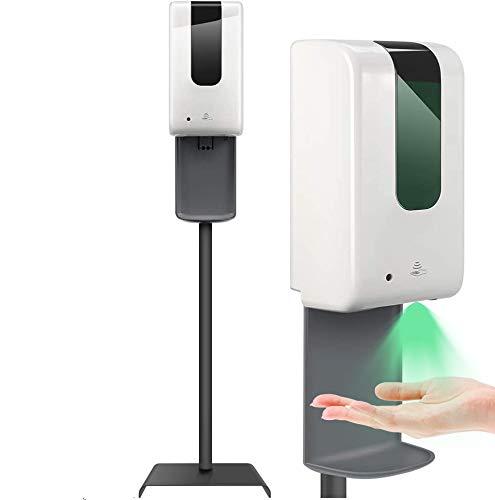 InLoveArts dispensador de desinfectante de Manos automático de 1200 ml con esterilizador UV,dispensador de desinfectante de Manos sin Contacto,con Soporte de Suelo,Soporte Gel desinfectante