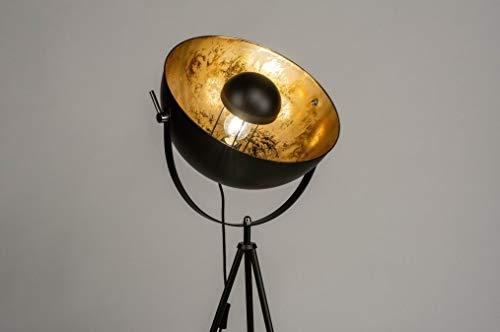 Lumidora 73204 Stativ-Stehleuchte mit in den Farben Schwarz und Gold.