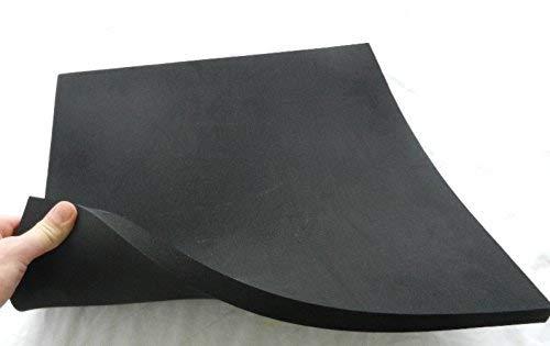 (75 €/m²) Zellkautschuk, ca. 34 x 39 x 2,5 cm, Moosgummi Polster Motorradsitz Höcker, schwarz B Ware !!