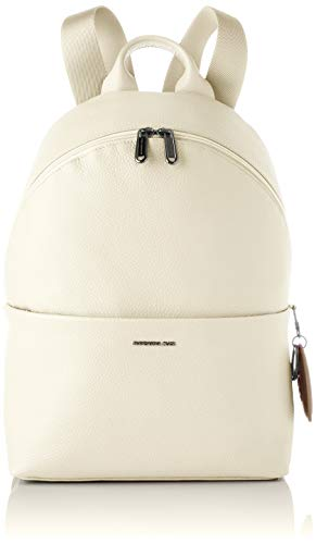 Mandarina Duck Mellow Leather, Mochila para Mujer, Off White, Talla única