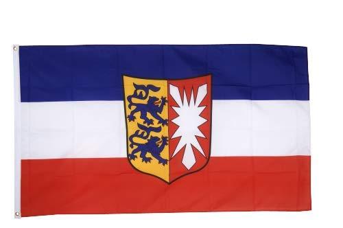 Flaggenfritze® Fahne Flagge Schleswig-Holstein 90 x 150 cm Premiumqualität