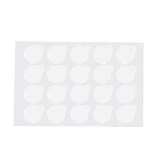 QKP 500pcs Professional Disposable Eyelash Extension Glue Sticker Patchs Eye Lash Extension Glue Sticker Pads Palette De Colle Adhésive