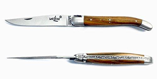 Forge de Laguiole Couteau de poche Pistache Prestige Inox 11 cm