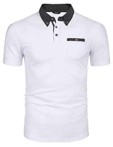 COOFANDY Kurzarm Poloshirt Herren Sommer Poloshirts Regular Fit Einfarbig Polohemden Basic Tshirt