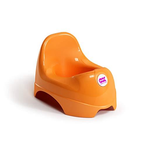 OKBABY Relax - Vasino per Bambini con Seduta Ergonomica e Schienale Rialzato - Arancione