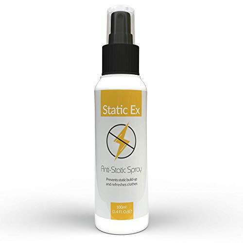StaticEx - Antistatik Spray optimal geeignet für alle Textilien, Ideal als Antistatik Spray Kleidung, Antistatik Spray Sofa geeignet als Display Reiniger, Screen Cleaner, Anti Static Spray - 100ml