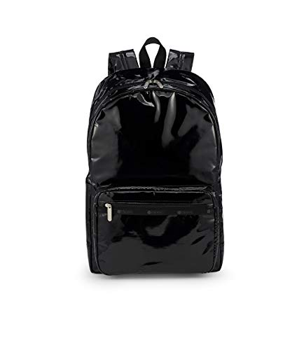 LeSportsac Black Patent Essential Backpack/Rucksack, Style 8266/Color 9908
