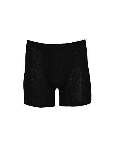 Dilling Herren Boxershorts aus Wolle & Seide Schwarz M