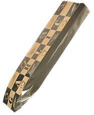 EcoCraft Large Foil 5 1/4 x 3 1/4 x 20 Garlic Artisan Bread Bag NK Liner (300861) (Package of 100)