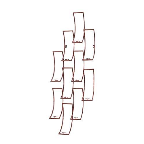 Muebles para el hogar Estantes de vino montados en la pared Soporte colgante para botellas de vino Estantes de almacenamiento de copas de vino de hierro de metal Estilo vintage Decoración de barra