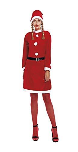 H HANSEL HOME Disfraz Mama Noel Traje Mama Noel Papa Noel Adulto - Hombre Mujer Vestido para Cosplay/Navidad Size M