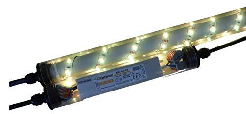 Led Gabionen Licht Beleuchtung LED 3x0,90m länge 360° Farbe warmweiss Außenbeleuchtung Steinmauer Garten Anschluß 230 Volt über offene Kabelenden