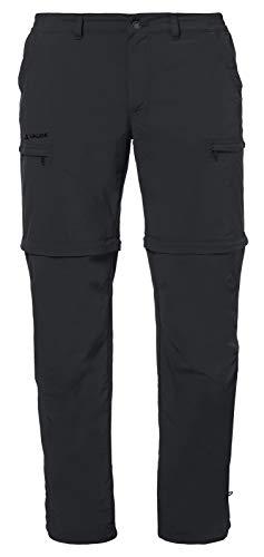 VAUDE Herren Hose Men's Farley Zip-Off Pants IV, abzippbare Wanderhose, black, 50/Short, 038690104500