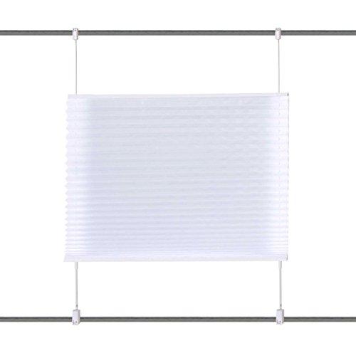 Home Fashion 94410-701 Estor Plisado Up and Down, decoración-Mirada de Seda Uni, 130 x 40 cm