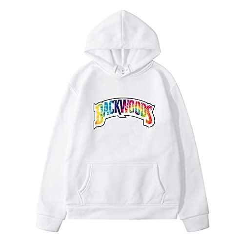 N\C Primavera y otoño Hombres Street Hip-Hop Sueltos Backwoods Imprimir Pullover Casual Sudadera con Capucha suéter XXL
