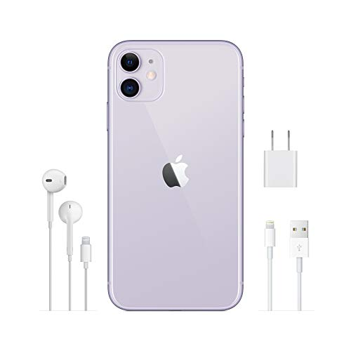 Apple iPhone 11 (64GB) - Violett (inklusive EarPods, Power Adapter)