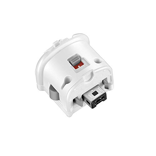 NC Motion Plus Adapter Replacement for Wii Motion Plus Adapter-Sensor Accelerator and Nintendo Remote Controller Compatible (White 1 pcs)