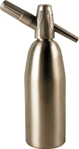 Creamright Sparkle Soda Siphon-Silver