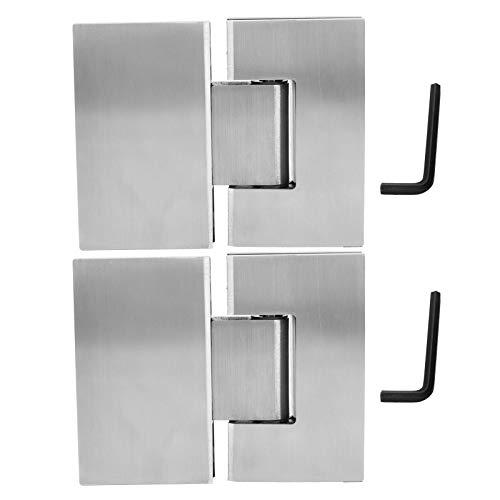 Herrajes para puertas, abrazadera de puerta de baño Bisagras de puerta de vidrio Bisagra de ducha de aleación de zinc razonable duradera Abrazadera de puerta de ducha flexible a prueba de