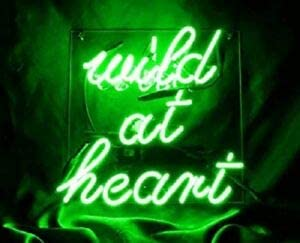 LeeQueen Manufacturer OFFicial shop Creative Design Customized Wild Green Max 71% OFF Lam Heart at Neon