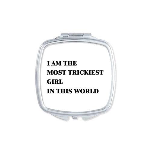 DIYthinker Je suis Le Maquillage Compact Fille Plus délicate Miroir carré Portable Mignon de Cadeau Miroirs de Poche à la Main Multicolor