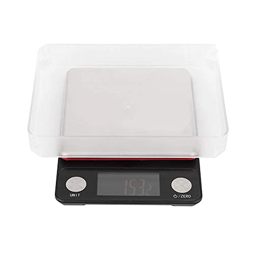 JJINPIXIU Báscula electrónica de Alta precisión, Recargable por USB, báscula de Cocina, balanza electrónica Multifuncional, 10 kg / 0,1 g