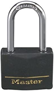 Master Lock Padlock, Covered Aluminum Lock, 1-9/16 in. Wide, Black, 141DLF