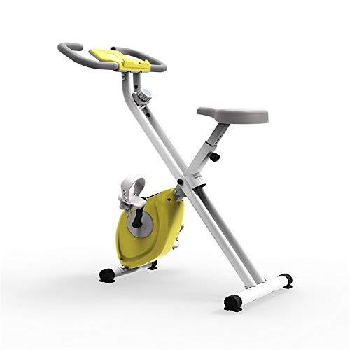Lwieui Bicicletas estáticas Plegable Bicicleta de la Aptitud Deportes de Interior for Bicicleta Adecuado for su Ejercicio aeróbico Bicicleta de Spinning (Color : Verde, Size : 115x41x21cm)