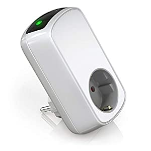 Bearware - Temporizador eléctrico - Temporizador de encendido apagado - Enchufe de ahorro de energía - Máx. 3680W - Enchufe con dispositivo de seguridad infantil integrado