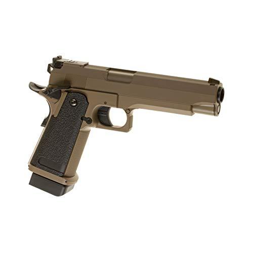 Pistola Airsoft Cyma-CM128T / Metal y plástico de Alta Resistencia/Color Desierto/Eléctrica (0,5 Julios) / Semi-Full Automático