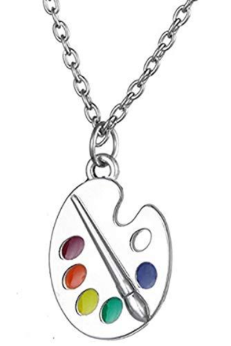 VASSAGO DIY Kreative Kunst Farbe und Pinsel Palette Anhänger Halskette