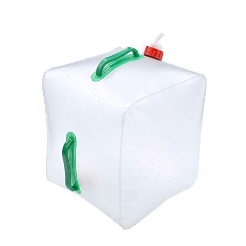 Kraeoke Bolsa de agua plegable de 10 l, depósito de agua transparente, bidón de agua plegable para camping, aire libre, viajes