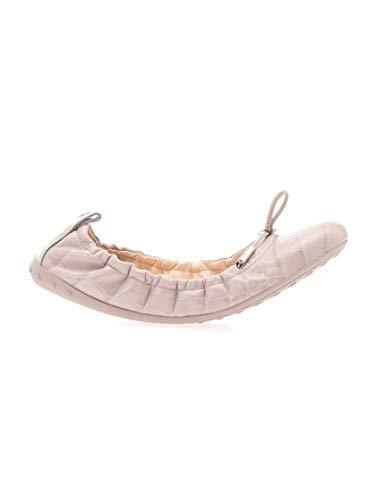 Luxury Fashion | Tod's Dames XXW12C0CJ10NBWB416 Roze Leer Ballerina's | Lente-zomer 20