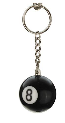 2x Billardkugel Schlüsselanhänger Schlüsselring Glück Nr.8