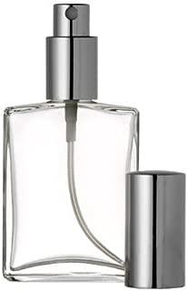 Riverrun Perfume Fragrance Cologne Atomizer Empty Refillable Glass Bottle Fine Mist Silver Sprayer 60ml 2 oz (1 Bottle)