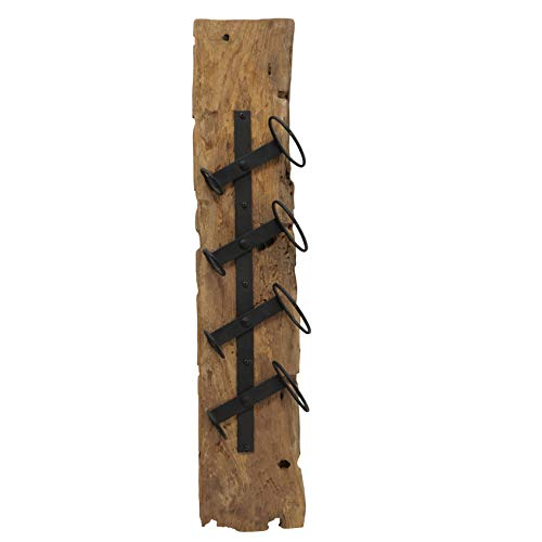 Whole House Worlds Weinregal Jarvis, H 100 cm, Holz, Natur