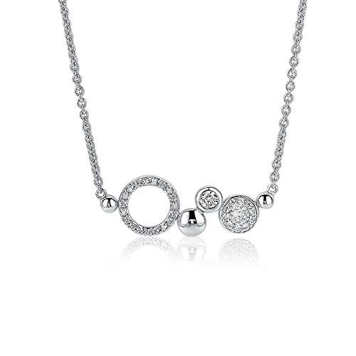 Zinzi Jewels 925 Sterling Zilveren Ketting ZIC1882 (Lengte: 42.00-45.00 cm)