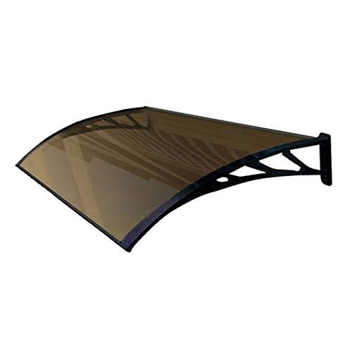 Auvent de Porte Entrée Marquise QIANDA Polycarbonate Feuilles Store Fenêtre Couverture Protège du Soleil, Pluie, Neige Fondue Ou Neige - Aluminium Support (Size : 240cmx60cm)