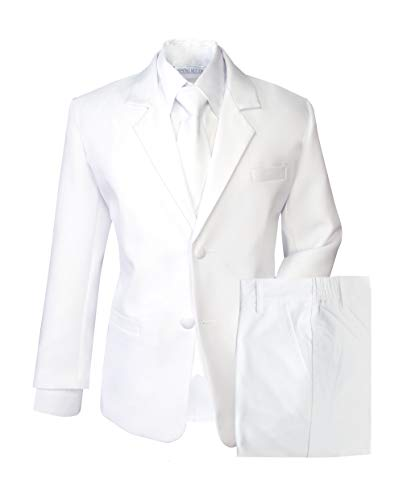 Spring Notion Boys' Formal White Dress Suit Set 10