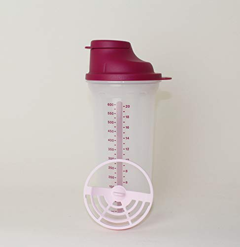 TUPPERWARE Shake-It Shaker 600ml Beere + Mini Trichter Lila